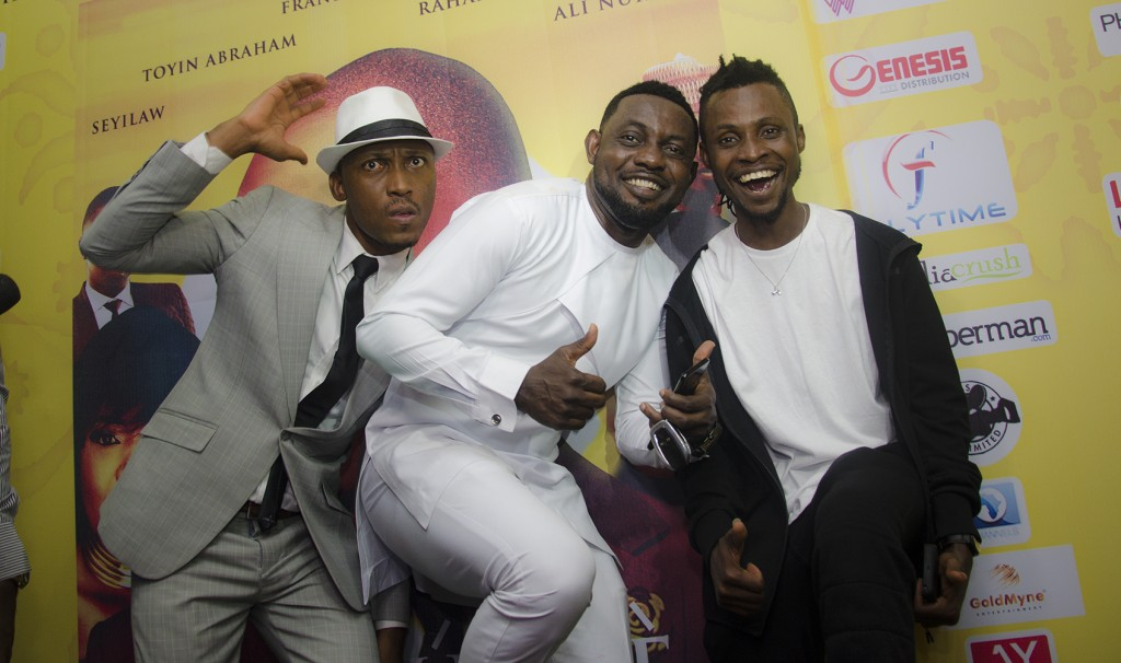 L-R Frank Donga, AY, and Asurf on the Red Carpet.